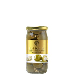 ILIADA Green Olives Stuffed with Garlic