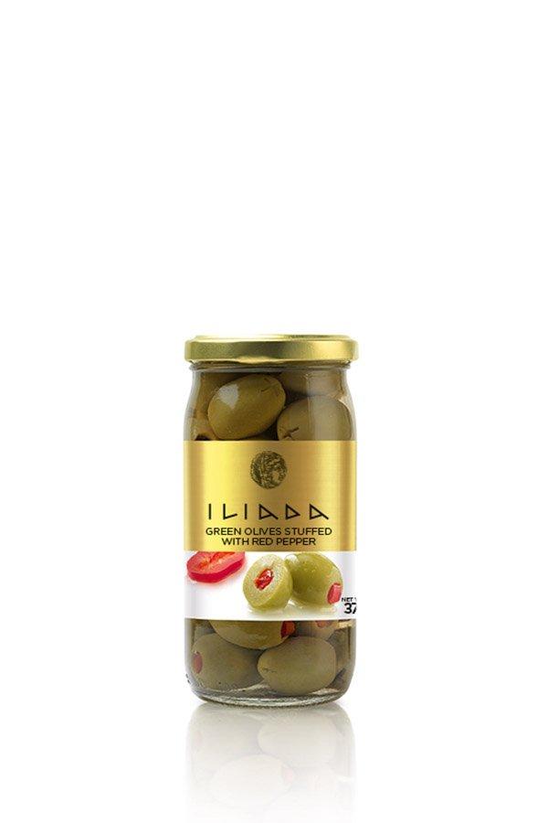 ILIADA Green Olives Stuffed with Pepper