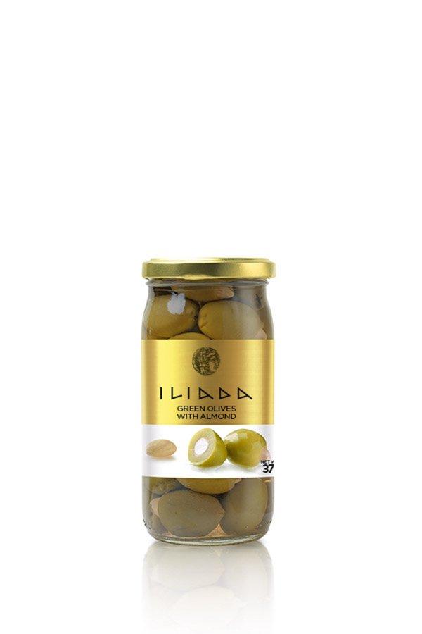 ILIADA Green Olives Stuffed with Almonds