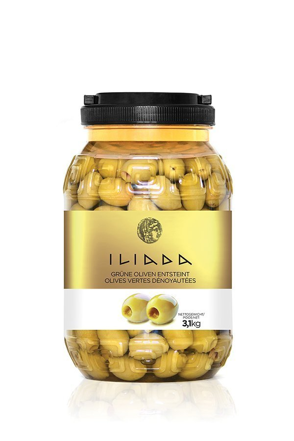 ILIADA Green Olives Pitted HO.RE.CA