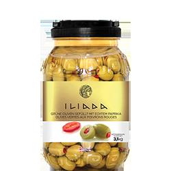 ILIADA Green Olives Stuffed with Pepper HO.RE.CA