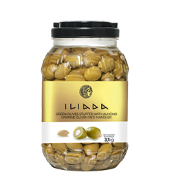 ILIADA Green Olives Stuffed with Almond HO.RE.CA