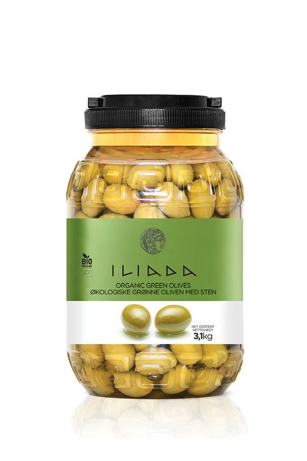 ILIADA Emerald Organic Green Olives HO.RE.CA